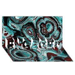 Fractal Marbled 05 Engaged 3d Greeting Card (8x4)  by ImpressiveMoments