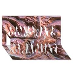 Wet Metal Structure Congrats Graduate 3d Greeting Card (8x4)