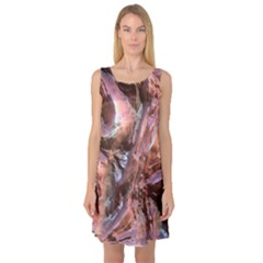 Wet Metal Structure Sleeveless Satin Nightdresses