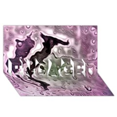 Wet Metal Pink Engaged 3d Greeting Card (8x4)  by ImpressiveMoments