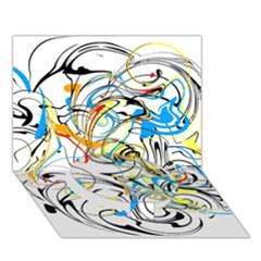 Abstract Fun Design Circle Bottom 3d Greeting Card (7x5)
