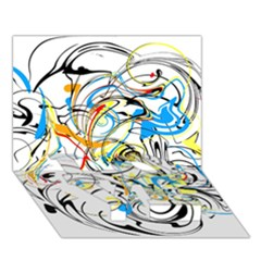 Abstract Fun Design Love Bottom 3d Greeting Card (7x5)