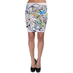 Abstract Fun Design Bodycon Skirts