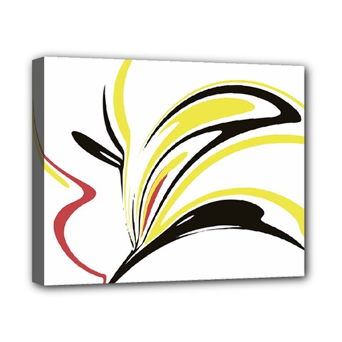 Abstract Flower Design Canvas 10  X 8  by theunrulyartist