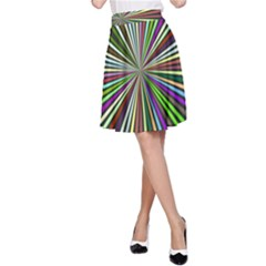 Colorful rays A-line Skirt