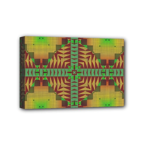 Tribal Shapes Pattern Mini Canvas 6  X 4  (stretched) by LalyLauraFLM