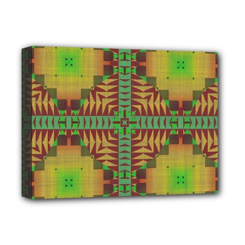 Tribal Shapes Pattern Deluxe Canvas 16  X 12  (stretched)  by LalyLauraFLM
