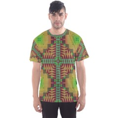 Tribal shapes pattern Men s Sport Mesh Tee by LalyLauraFLM