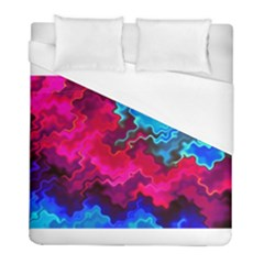 Psychedelic Storm Duvet Cover Single Side (twin Size) by KirstenStar