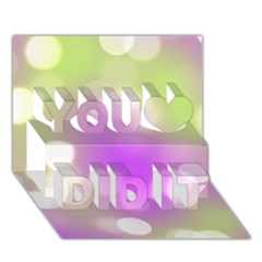 Modern Bokeh 7 You Did It 3d Greeting Card (7x5)