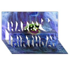 Waterfall Tears Happy Birthday 3d Greeting Card (8x4)  by icarusismartdesigns