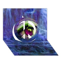 Waterfall Tears Peace Sign 3d Greeting Card (7x5)  by icarusismartdesigns