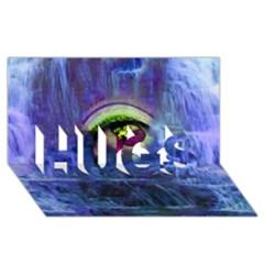Waterfall Tears Hugs 3d Greeting Card (8x4)  by icarusismartdesigns