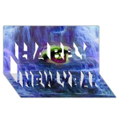 Waterfall Tears Happy New Year 3d Greeting Card (8x4)  by icarusismartdesigns