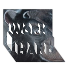 Humans Work Hard 3d Greeting Card (7x5)