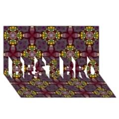 Cute Pretty Elegant Pattern Best Bro 3d Greeting Card (8x4)  by creativemom