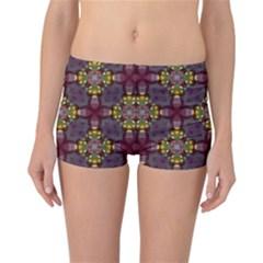 Cute Pretty Elegant Pattern Reversible Boyleg Bikini Bottoms by creativemom