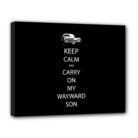 Keep Calm And Carry On My Wayward Son Canvas 14  X 11  (framed) by TheFandomWard