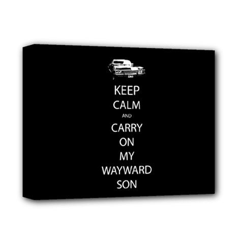 Keep Calm And Carry On My Wayward Son Deluxe Canvas 14  X 11  (framed) by TheFandomWard
