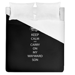 Carry On Centered Duvet Cover Single Side (full/queen Size) by TheFandomWard