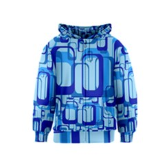 Retro Pattern 1971 Blue Kids Zipper Hoodies by ImpressiveMoments