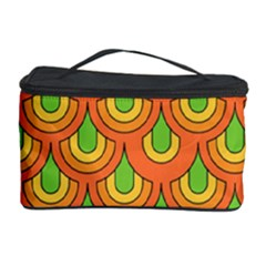 70s Green Orange Pattern Cosmetic Storage Cases by ImpressiveMoments