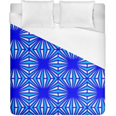Retro Blue Pattern Duvet Cover Single Side (double Size) by ImpressiveMoments