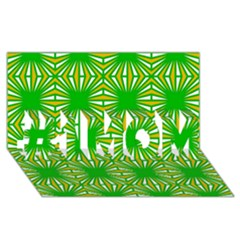 Retro Green Pattern #1 Mom 3d Greeting Cards (8x4)
