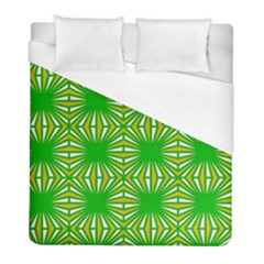 Retro Green Pattern Duvet Cover Single Side (twin Size) by ImpressiveMoments