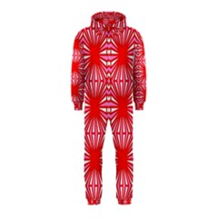 Retro Red Pattern Hooded Jumpsuit (kids)