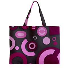 Grey Plum Abstract Pattern  Tiny Tote Bags