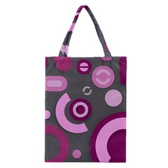 Grey Plum Abstract Pattern  Classic Tote Bags