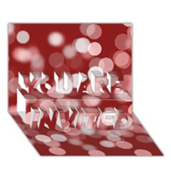 Modern Bokeh 11 You Are Invited 3d Greeting Card (7x5)  by ImpressiveMoments