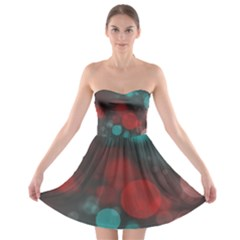 Modern Bokeh 15b Strapless Bra Top Dress