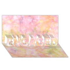 Softly Lights, Bokeh Engaged 3d Greeting Card (8x4)  by ImpressiveMoments