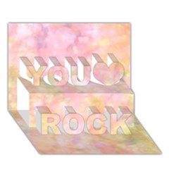 Softly Lights, Bokeh You Rock 3d Greeting Card (7x5)