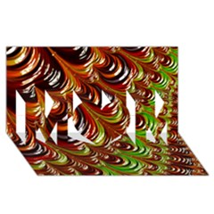 Special Fractal 31 Green,brown Mom 3d Greeting Card (8x4)  by ImpressiveMoments