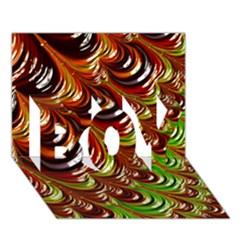 Special Fractal 31 Green,brown Boy 3d Greeting Card (7x5)