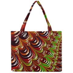 Special Fractal 31 Green,brown Tiny Tote Bags by ImpressiveMoments