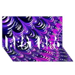 Special Fractal 31pink,purple Best Bro 3d Greeting Card (8x4)  by ImpressiveMoments