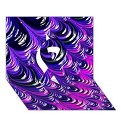 Special Fractal 31pink,purple Ribbon 3d Greeting Card (7x5)  by ImpressiveMoments