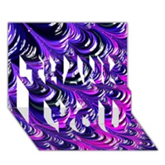 Special Fractal 31pink,purple Thank You 3d Greeting Card (7x5)