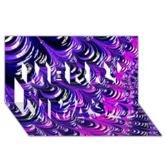 Special Fractal 31pink,purple Merry Xmas 3d Greeting Card (8x4)  by ImpressiveMoments