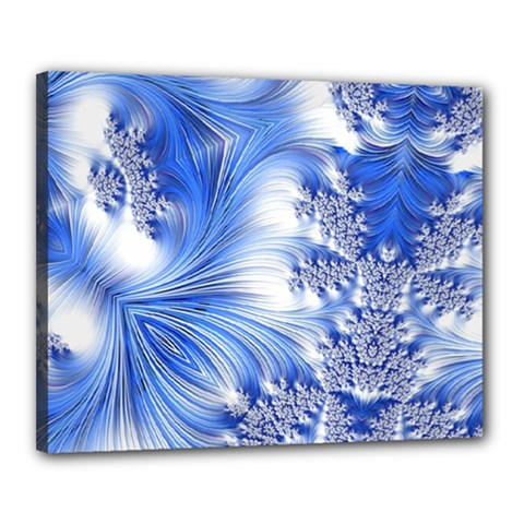 Special Fractal 17 Blue Canvas 20  x 16  by ImpressiveMoments