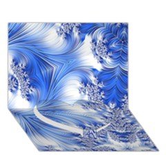 Special Fractal 17 Blue Heart Bottom 3d Greeting Card (7x5)