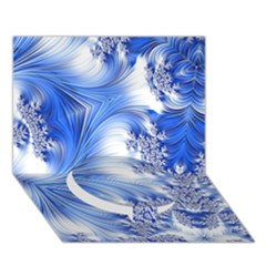Special Fractal 17 Blue Circle Bottom 3d Greeting Card (7x5)