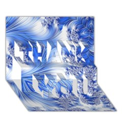 Special Fractal 17 Blue Thank You 3d Greeting Card (7x5)