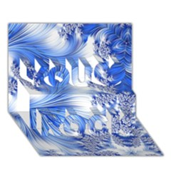 Special Fractal 17 Blue You Rock 3d Greeting Card (7x5)  by ImpressiveMoments