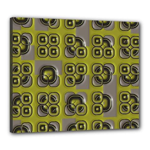 Plastic Shapes Pattern Canvas 24  X 20  (stretched) by LalyLauraFLM