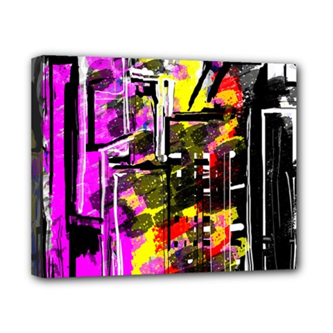 Abstract City View Canvas 10  X 8  by theunrulyartist
